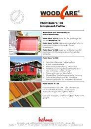 PAINT BASE V-100 Livingboard-Platten - Boehme