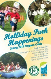 Youth and Family Programs - Holliday Park