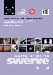 innovation in music production - University of Central Lancashire