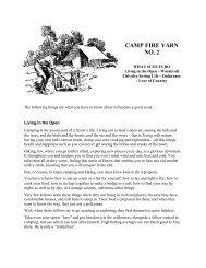 CAMP FIRE YARN NO. 2 - The Dump
