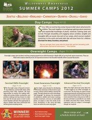 w a r e n e s s 2012 summer camps - Wilderness Awareness School