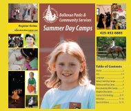 2012 Summer Day Camps - City of Bellevue