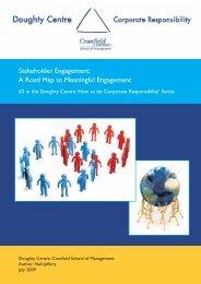 Stakeholder Engagement - Cranfield School of Management ...