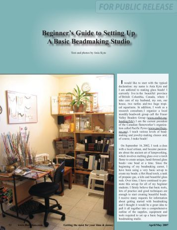 Beginner's Guide to Setting Up A Basic Beadmaking Studio
