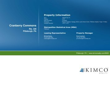 Cranberry Commons - Kimco Realty Corporation