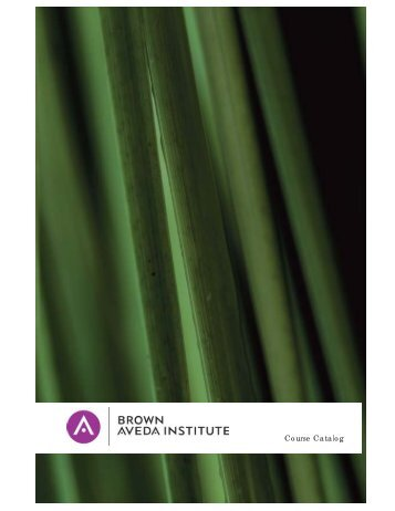 Course Catalog - Brown Aveda Institute