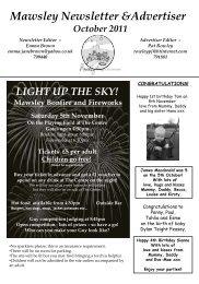 Mawsley Newsletter &Advertiser - Mawsley Village