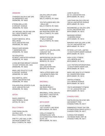 Health&Wellness Locations - Main Line Today