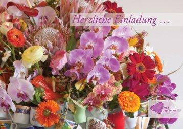 Flyer Einladung Sommer-Event 2012 - blumen-impression