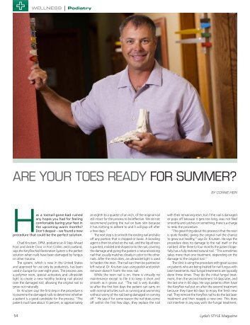 ARE YOuR TOES READY FOR SuMMER? - A Step Ahead Foot ...