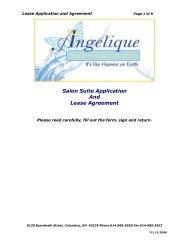 Salon Suite Application - Angelique Salon and Day Spa Suites