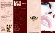 Salon Menu - Hard Rock Hotel & Casino