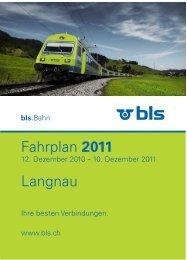 Fahrplan 2011 Langnau
