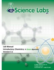 Lab Manual Introductory Chemistry - eScience Labs
