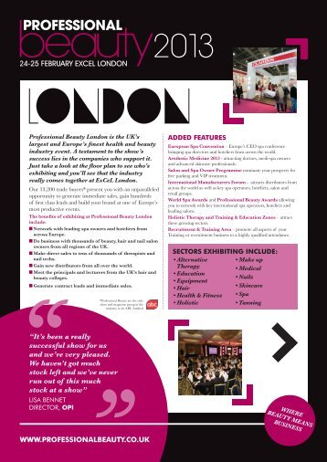 view the brochure here - Professional Beauty