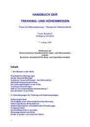 handbuch der trekking- und höhenmedizin - Österreichische ...