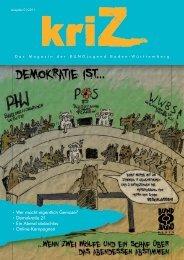 kriZ 3 (Frühjahr 2011) herunterladen – Schwerpunkt Demokratie 21