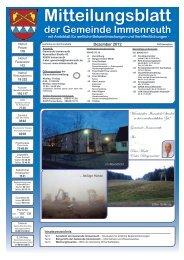 Mitteilungsblatt Dezember 2012 - Immenreuth