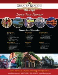 2012 Group Tour Planner - Greater Reading Convention and ...