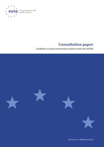 Guidelines on sound remuneration policies under - Esma - Europa
