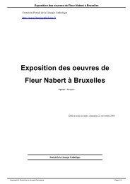 Exposition des oeuvres de Fleur Nabert à Bruxelles - Liturgie ...