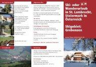 Ski- oder Wanderurlaub in St. Lambrecht, Steiermark in Österreich ...