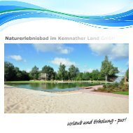 Naturerlebnisbad im Kemnather Land GmbH - Immenreuth