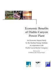 Economic Benefits of Diablo Canyon Power Plant - Nuclear Energy ...