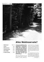 Alles Waldreservate? - Pro Natura Baselland