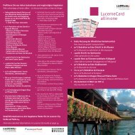 Lucernecard all in one - Hotel Cascada
