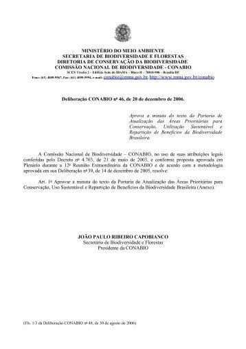 MINISTÉRIO DO MEIO AMBIENTE SECRETARIA DE ... - Ibama