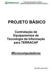 PROJETO BÁSICO - Terracap - Governo do Distrito Federal