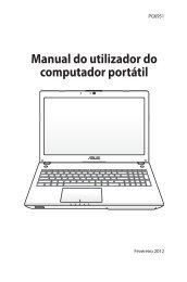 Manual do utilizador do computador portátil - Asus