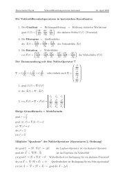 Vektordifferentialoperatoren - Gradient, Divergenz, Rotation