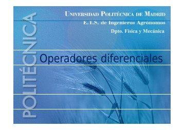 Operadores diferenciales - OCW UPM