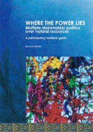 Where the power lies: multiple stakeholder politics over natural ...