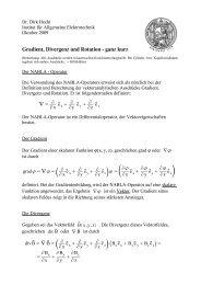 Gradient, Divergenz und Rotation - Institut für Allgemeine ...
