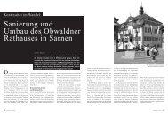 Sanierung und Umbau des Obwaldner Rathauses in Sarnen