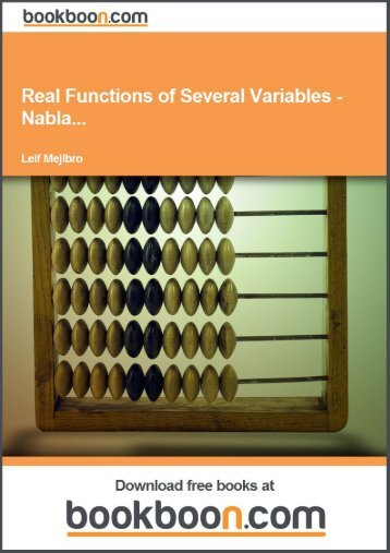 Real Functions of Several Variables - Nabla...
