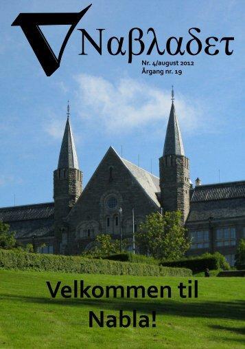 Velkomstblad, august 2012 - Nabla - NTNU