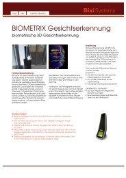 Datenblatt Gesichtserkennung A4Vision Macro ... - Bixi Systems AG