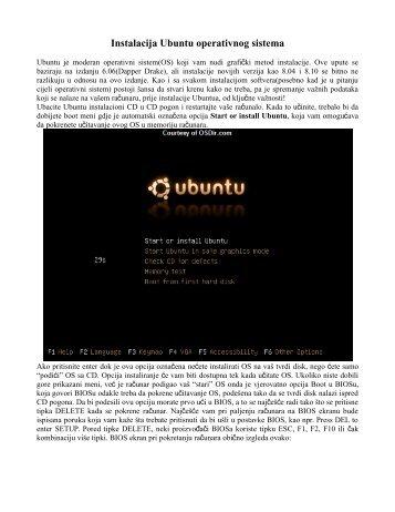Instalacija Ubuntu operativnog sistema - gimnazijabihac