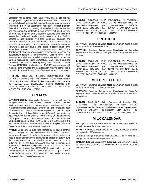 Optalys Multiple Protocol Milk Industrie Choice Calendar Canada fgb7Y6y