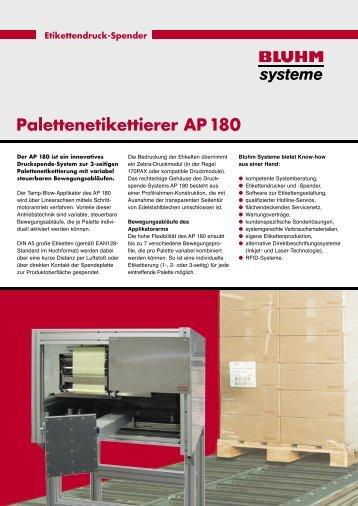 Palettenetikettierer AP 180 - Bluhm Systeme Gmbh