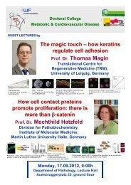 Prof. Dr. Thomas Magin Prof. Dr. Mechthild Hatzfeld - Medizinische ...
