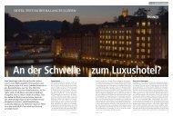 BEWERTUNG - Hotel des Balances Luzern