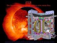 Die Kernfusionsforschung tritt in eine neue Ära - I. Physikalisches ...