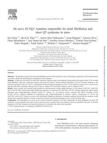 KCNQ1 - Cardiovascular Research
