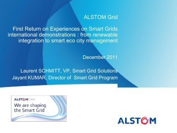 ALSTOM Grid First Return on Experiences on Smart Grids ...