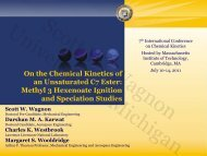 Chemical Kinetics of an Unsaturated Ester - Massachusetts Institute ...